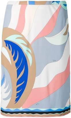 Emilio Pucci graphic print skirt