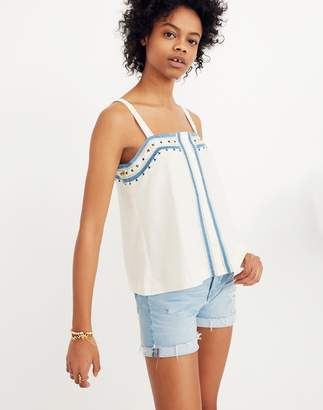 Madewell Mirror-Embroidered Tank Top
