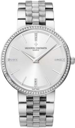 Vacheron Constantin 81577/v01g-9270 Traditionnelle 18K White Gold 38mm Watch $49,000 thestylecure.com