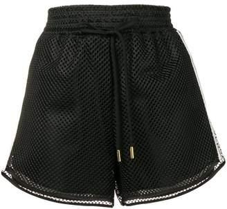 Versace side logo band mesh shorts