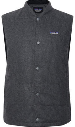Patagonia Quilted Mélange Wool-blend Gilet - Dark gray