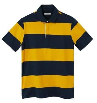 Mango man MANGO MAN Contrasting stripes cotton polo shirt