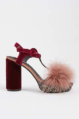 GIOSEPPO Pommed + Glittered Platform Heels