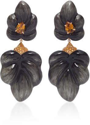 Sabbadini White Gold Citrine Earrings