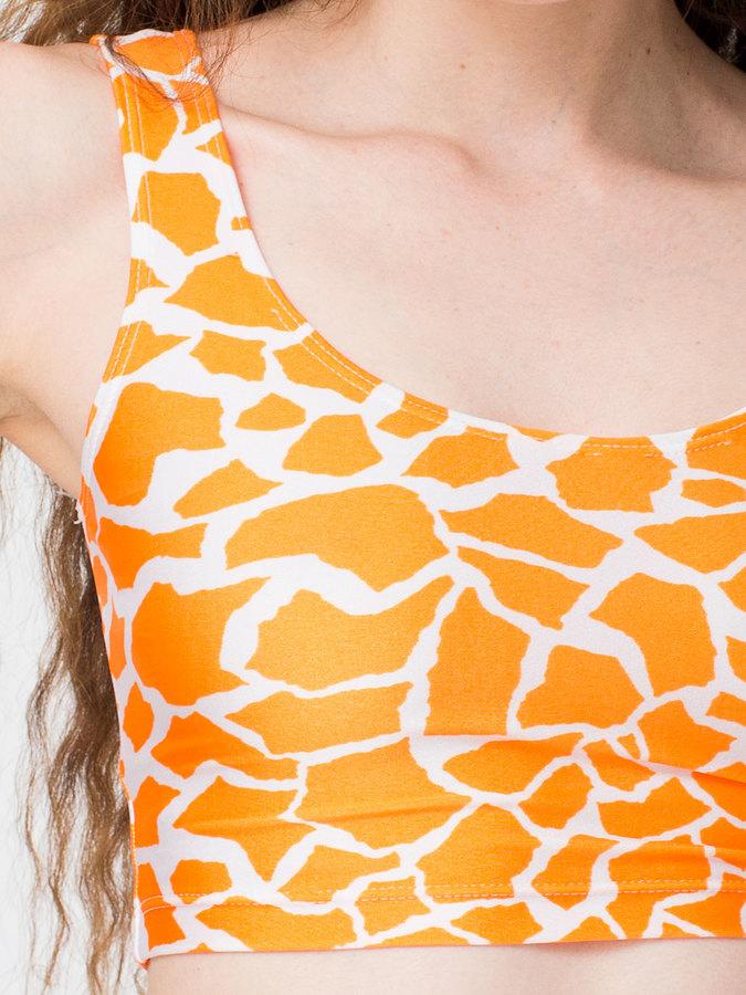 American Apparel Giraffe Print Crop Tank