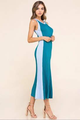 Athena Color-Block Sleeveless Dress