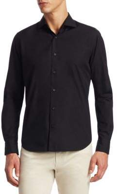 Saks Fifth Avenue COLLECTION Poplin Cotton Button-Down Shirt