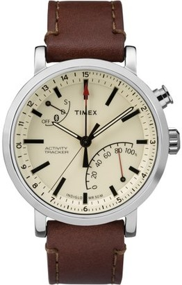 Timex Unisex Metropolitan+ Brown/Silver-Tone/Tan Watch, Leather Strap