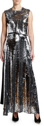 Stella McCartney Sequined-Front Gown