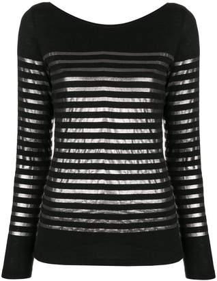 Majestic Filatures metallic stripe sweater