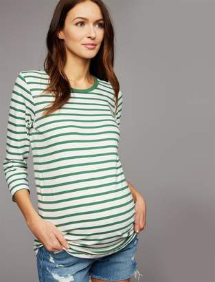 Velvet Striped Maternity Tee