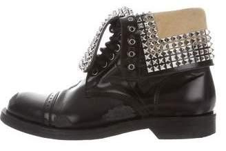 Loewe Stud-Embellished Combat Boots