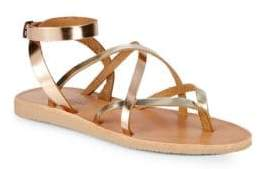 Joie a la Plage Oda Ankle-Strap Leather Sandals