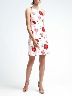 Floral Racerback Cutout Dress $128 thestylecure.com