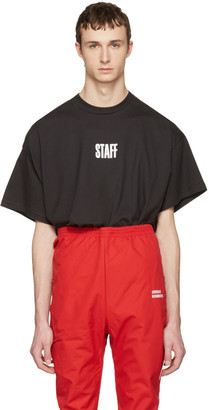 Vetements Black Hanes Edition Quick Made Oversized 'Staff' T-Shirt $430 thestylecure.com