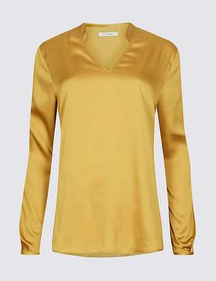 Marks and Spencer Notch Neck Long Sleeve Tunic