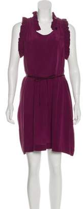 Isabel Marant Ãtoile Silk Ruffled Dress Purple Ãtoile Silk Ruffled Dress