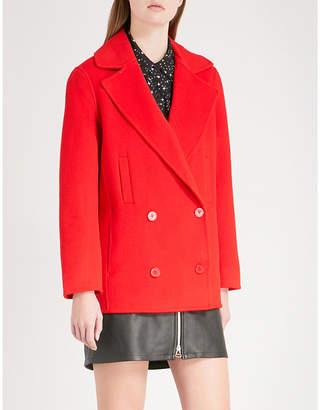 Claudie Pierlot Gift notch-lapel wool-blend coat