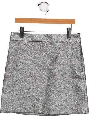 Milly Minis Girls' Metallic Skirt