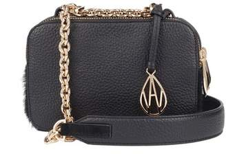 Amanda Wakeley Black Leather Chain Crossbody Bowie Bag