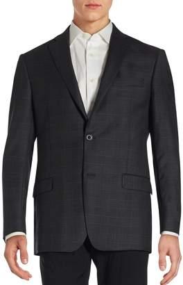 Michael Kors Notched Lapel Long Sleeve Jacket