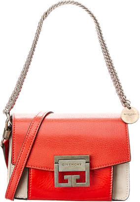 Givenchy Gv3 Mini Leather & Suede Shoulder Bag