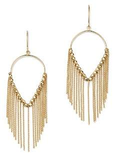 Bloomingdale's Large Teardrop & Chain Fringe Earrings in 14K Yellow Gold - 100% Exclusive