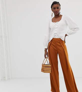 Glamorous wide leg trousers in satin