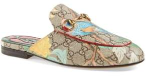 Gucci 'Princetown' Floral Print Mule Loafer
