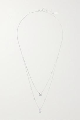 Messika - My Twin 18-karat White Gold Diamond Necklace