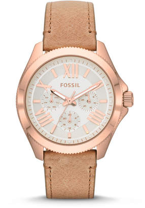 Fossil Cecile Multifunction Sand Leather Watch