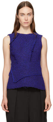 3.1 Phillip Lim Blue and Black Wrap Waist Tank Top
