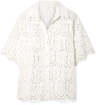 Zimmermann Wayfarer Cotton Crochet Shirt