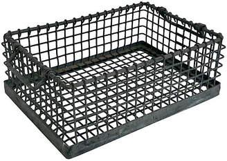 One Kings Lane Vintage Industrial Wire Basket - Ballyhoo
