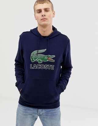 4e2173d71d Lacoste croc logo overhead hooded sweat in navy