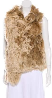 Ann Demeulemeester Open-Front Fur Vest