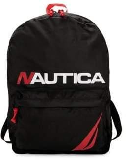Nautica Top Zip Logo Backpack