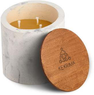 KEKRIMA - Concrete Marble Candle Pure Beeswax XL