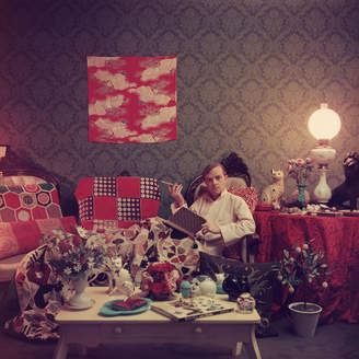 "Jonathan Adler Slim Aarons ""Capote at Home"" Photograph"