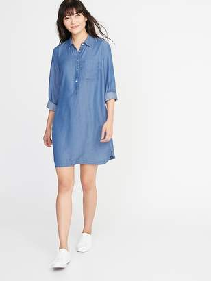 Old Navy Tencel® Chambray Shirt Dress for Women