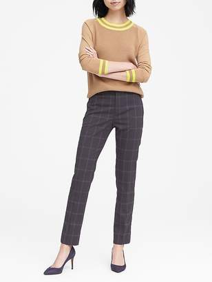 Banana Republic Ryan Slim Straight-Fit Washable Windowpane Pant