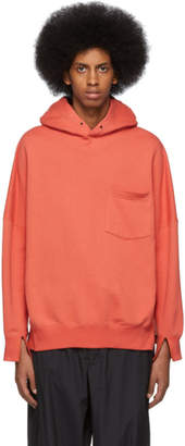 N.Hoolywood Orange Front Pocket Hoodie