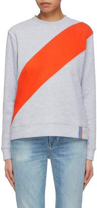 Kule 'The Katie' stripe poplin panel colourblock sweatshirt
