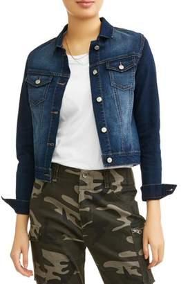 l.e.i. Juniors' Pocket Front Basic Denim Jacket