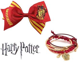Bioworld Harry Potter Gryffindor Cheer Hair Bow N' Arm Party Bracelet Jewelry Set