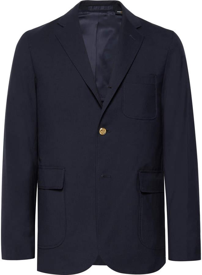Storm-Blue Slim-Fit Wool-Blend CORDURA Blazer