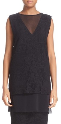 Women's Fuzzi Lace Tulle Tunic $395 thestylecure.com
