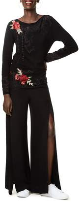 Desigual Embroidered Lace Sweater