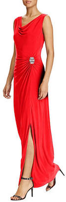 Lauren Ralph Lauren Sleeveless Cowl Neck Gown