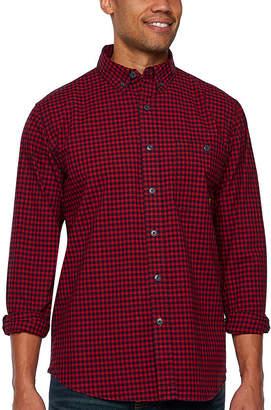 Walls Long Sleeve Plaid Button-Front Shirt